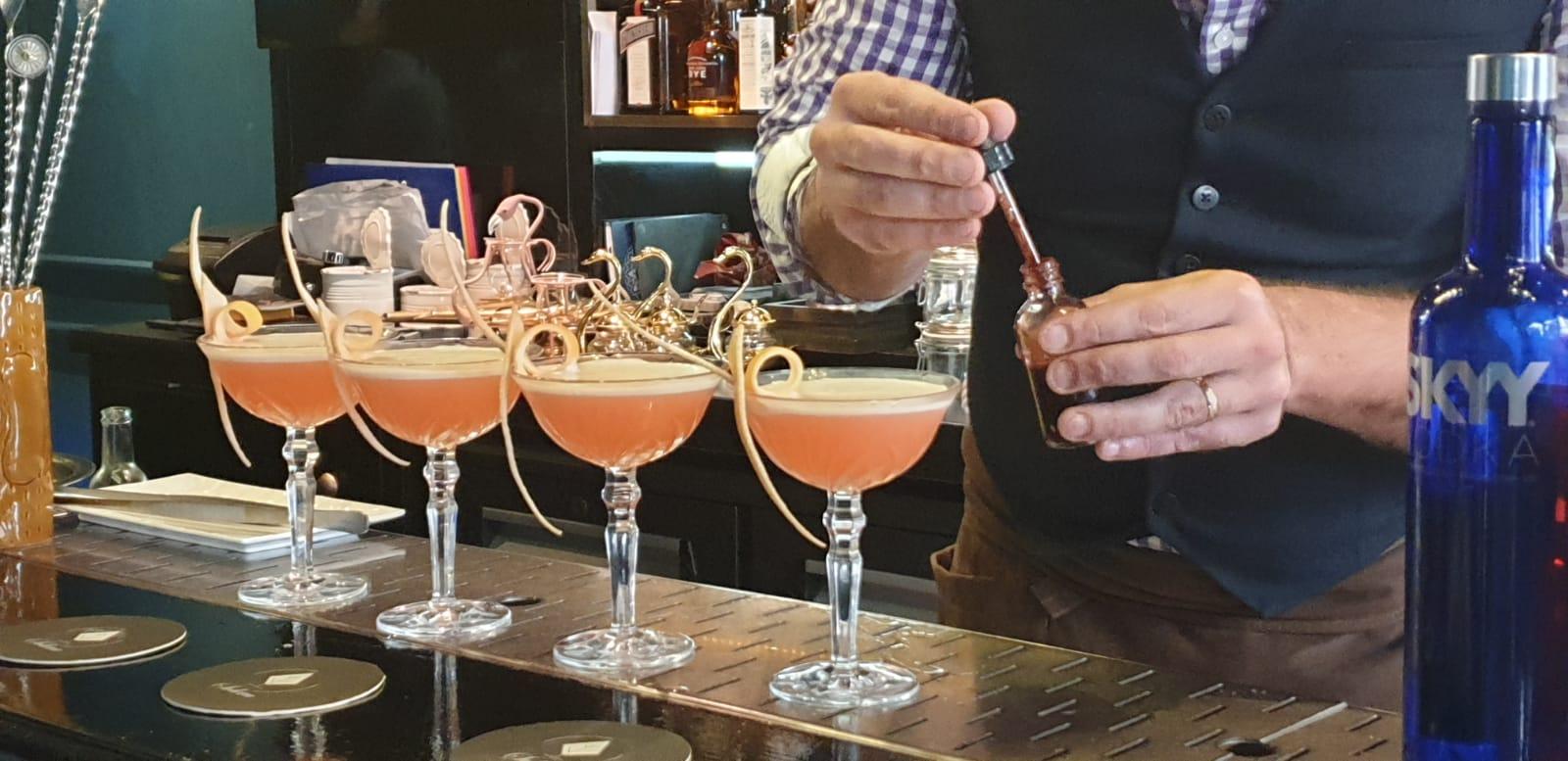 Réalisation de cocktails mixo au Solera Paris avec l'ABF