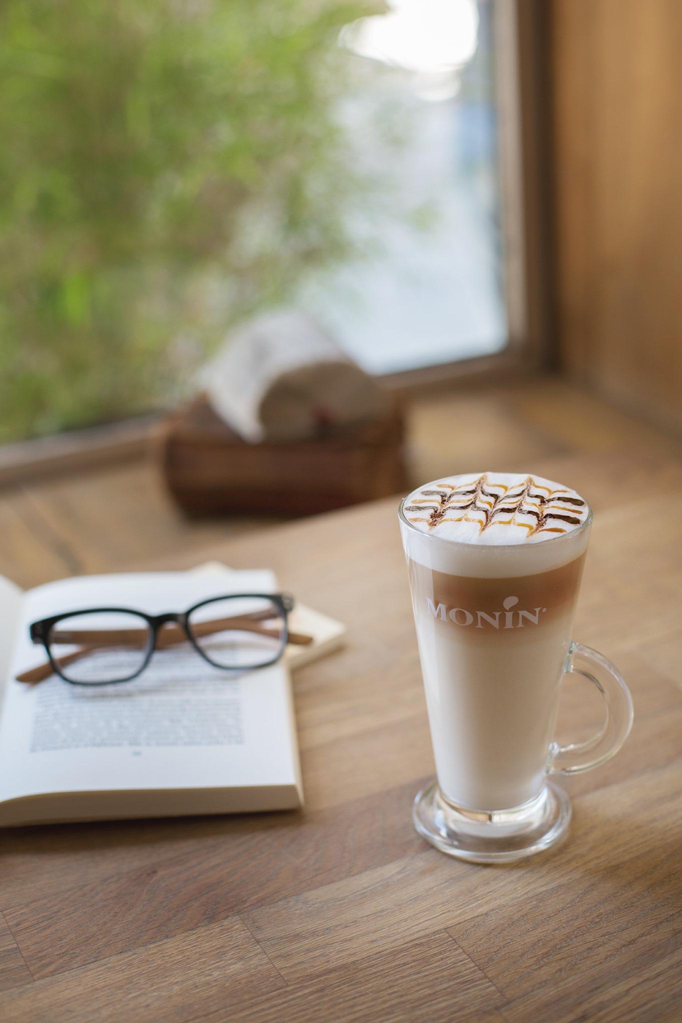 Latte au sirop de Monin