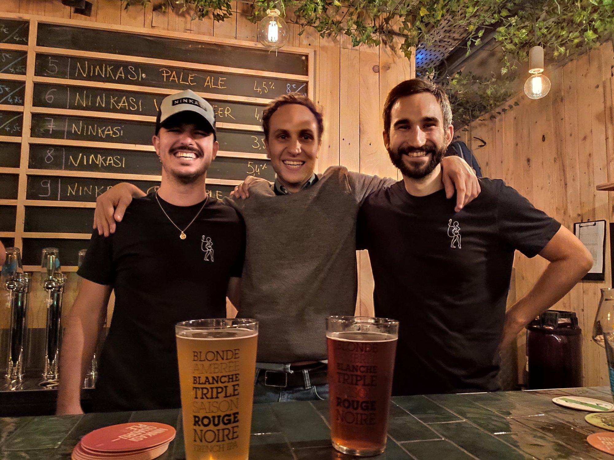 L'équipe commerciale de Ninkasi, bière