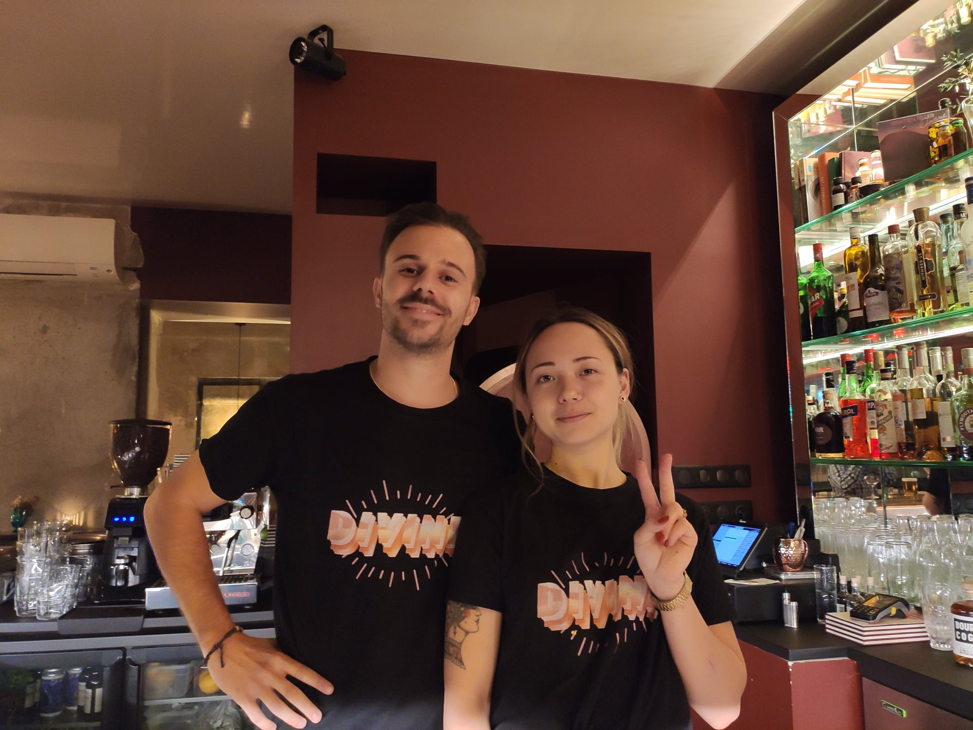 Nicolas Munoz et Julie Spicy - Divine (bar à cocktails à Paris)