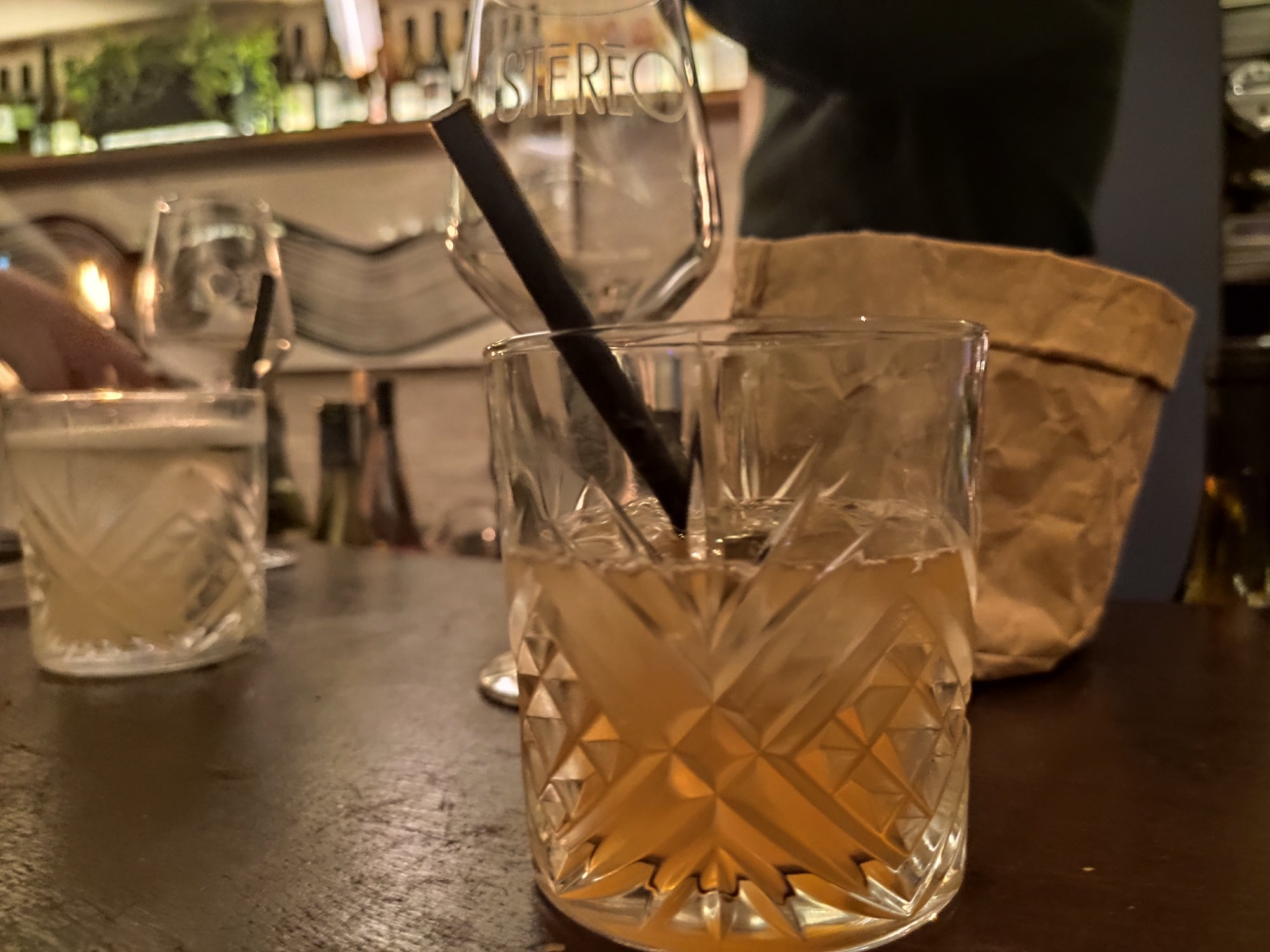 Cocktail Old fashioned - Bar à vins naturels Stéréo - Paris