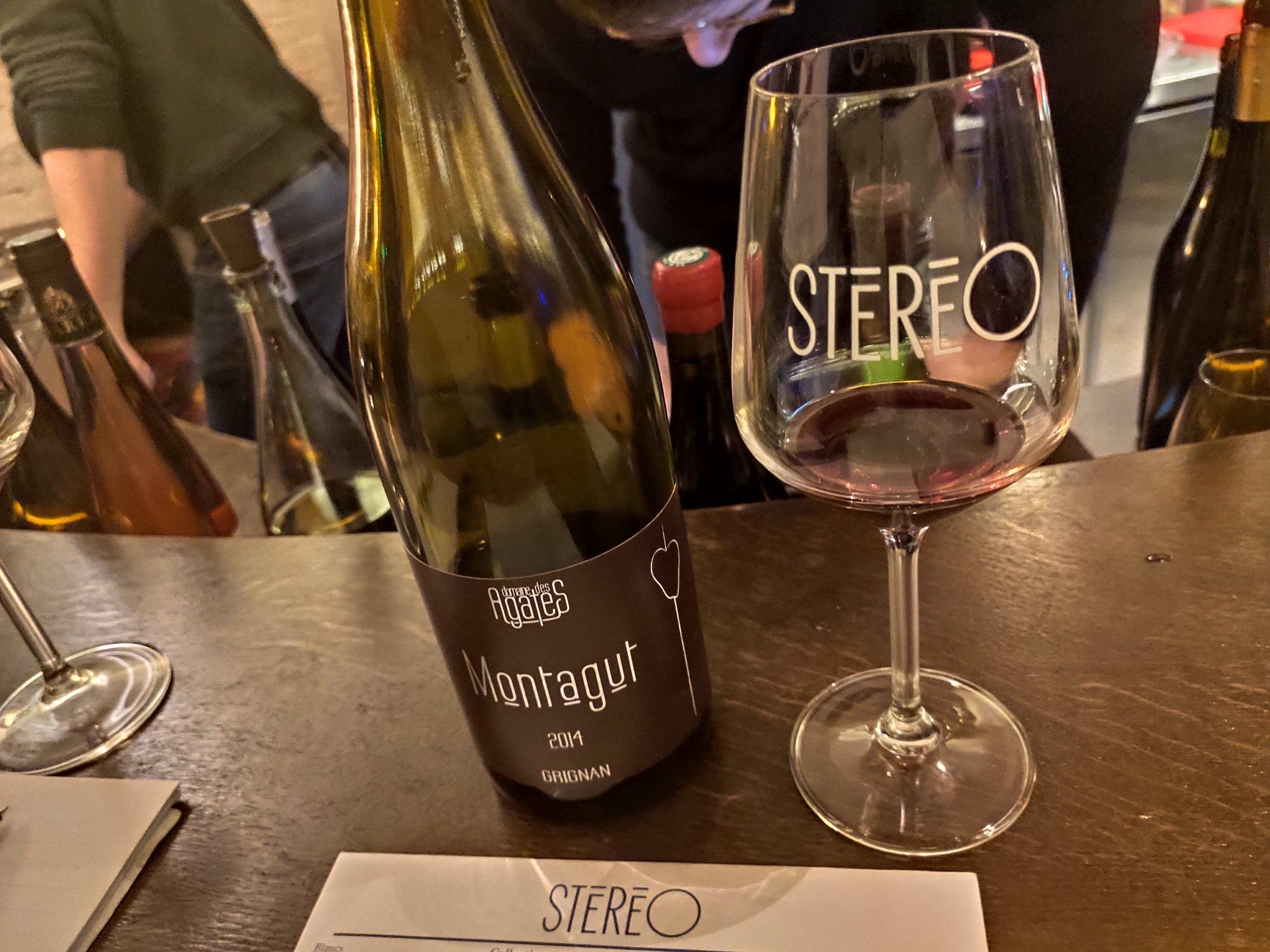 Domaine des Agates - Bar à vins Stéréo - Paris