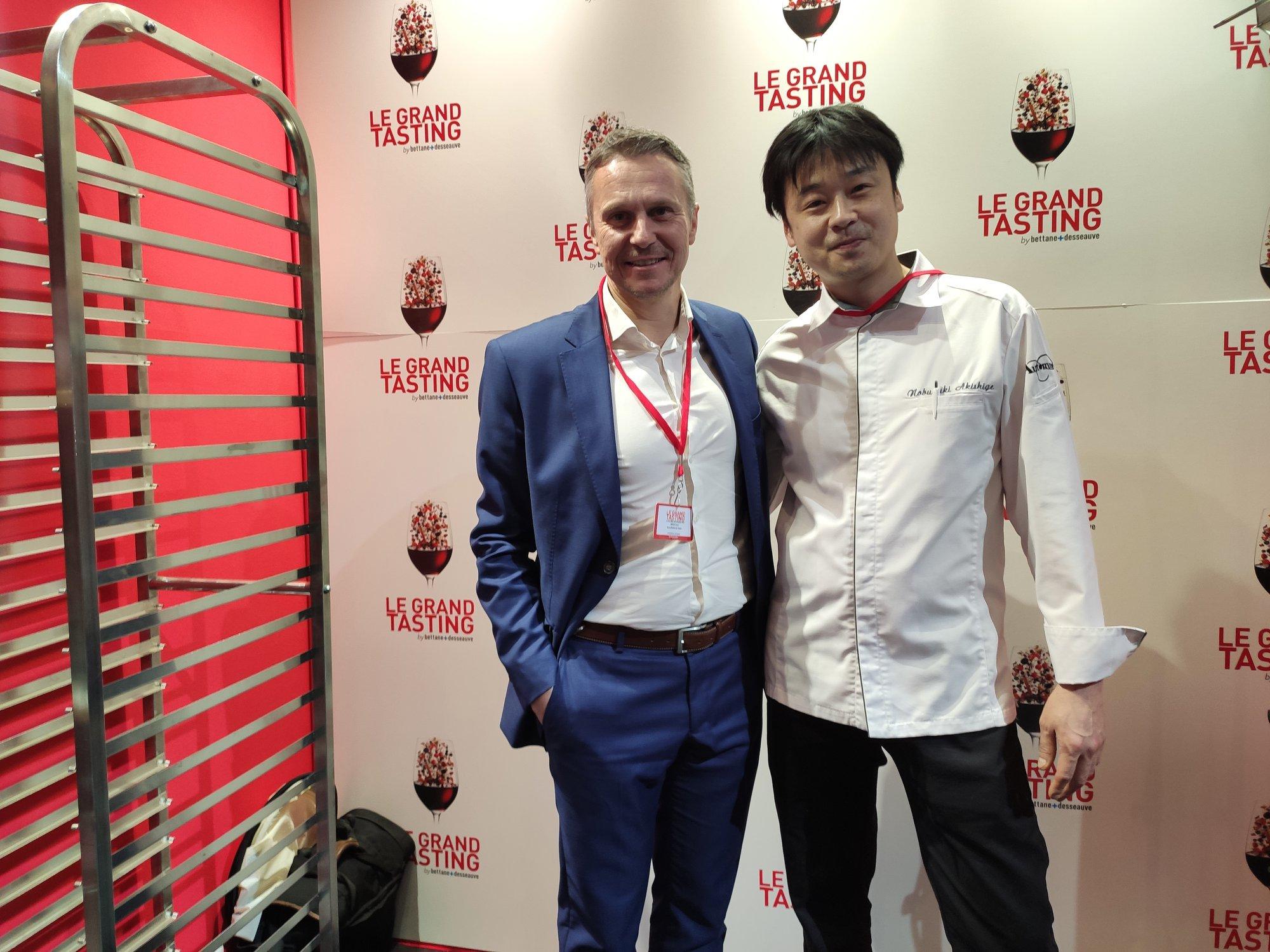 David Boileau (BNIC) et Nobuyuki Akishige (Restaurant Automne)