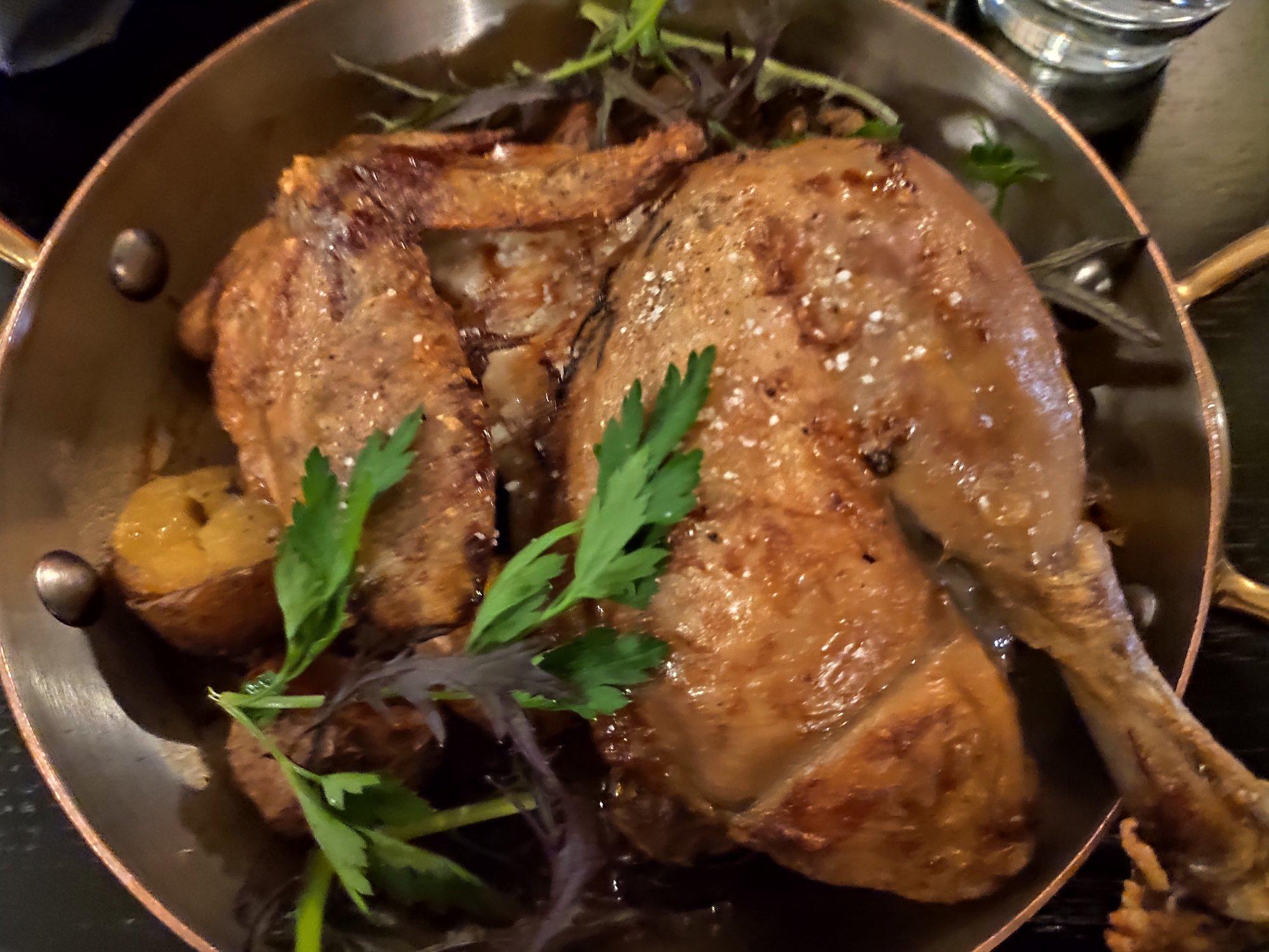 Demi-poulet fermier - La Rôtisserie Gallopin