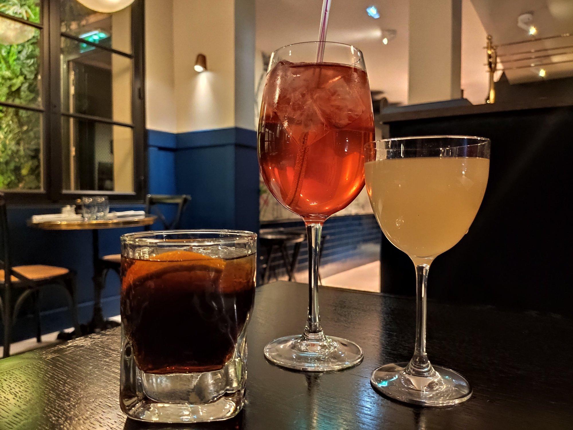 Cocktails La Rôtisserie Gallopin
