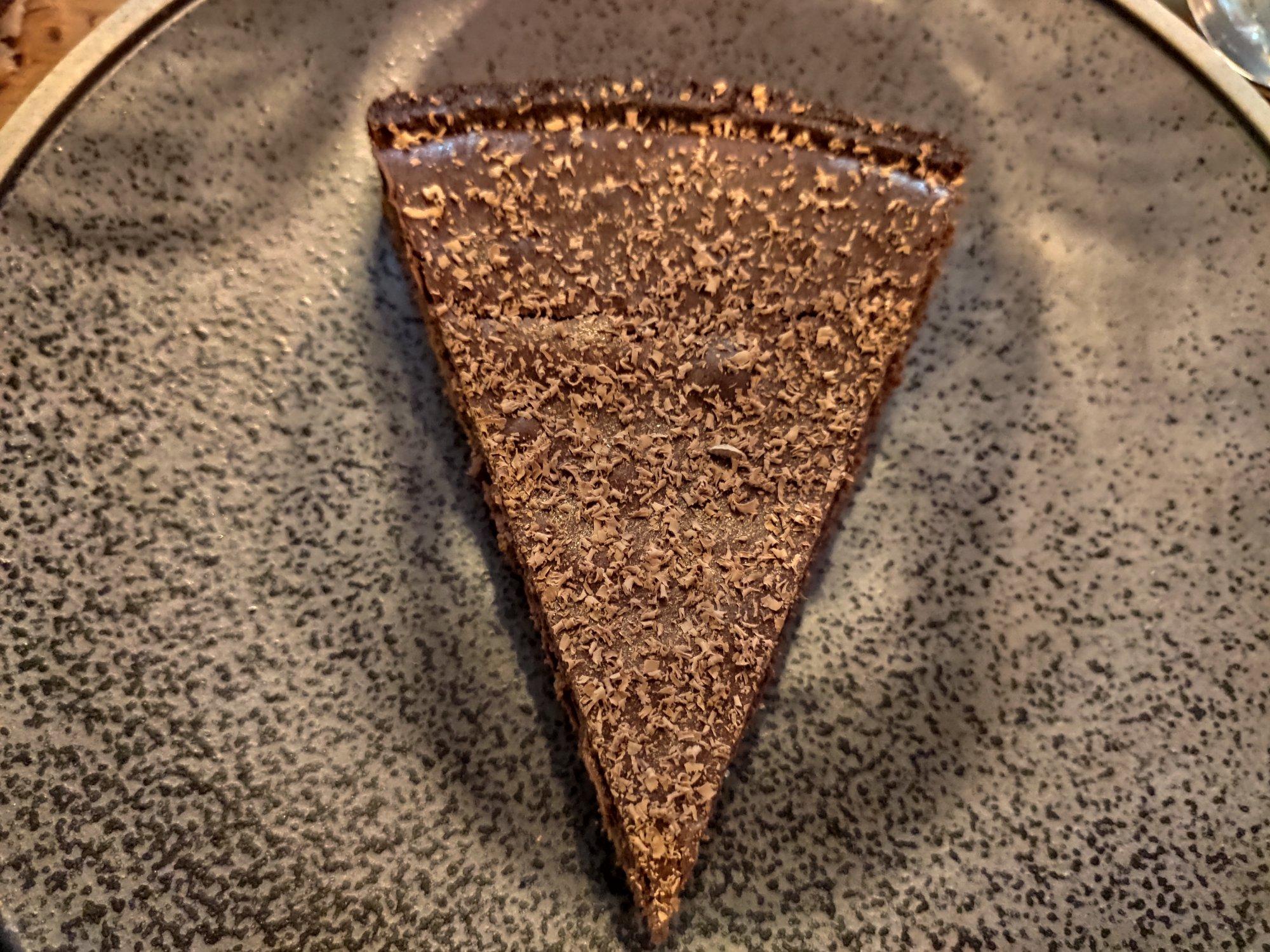 Botanique Paris : tartelette au chocolat, ganache aux épices