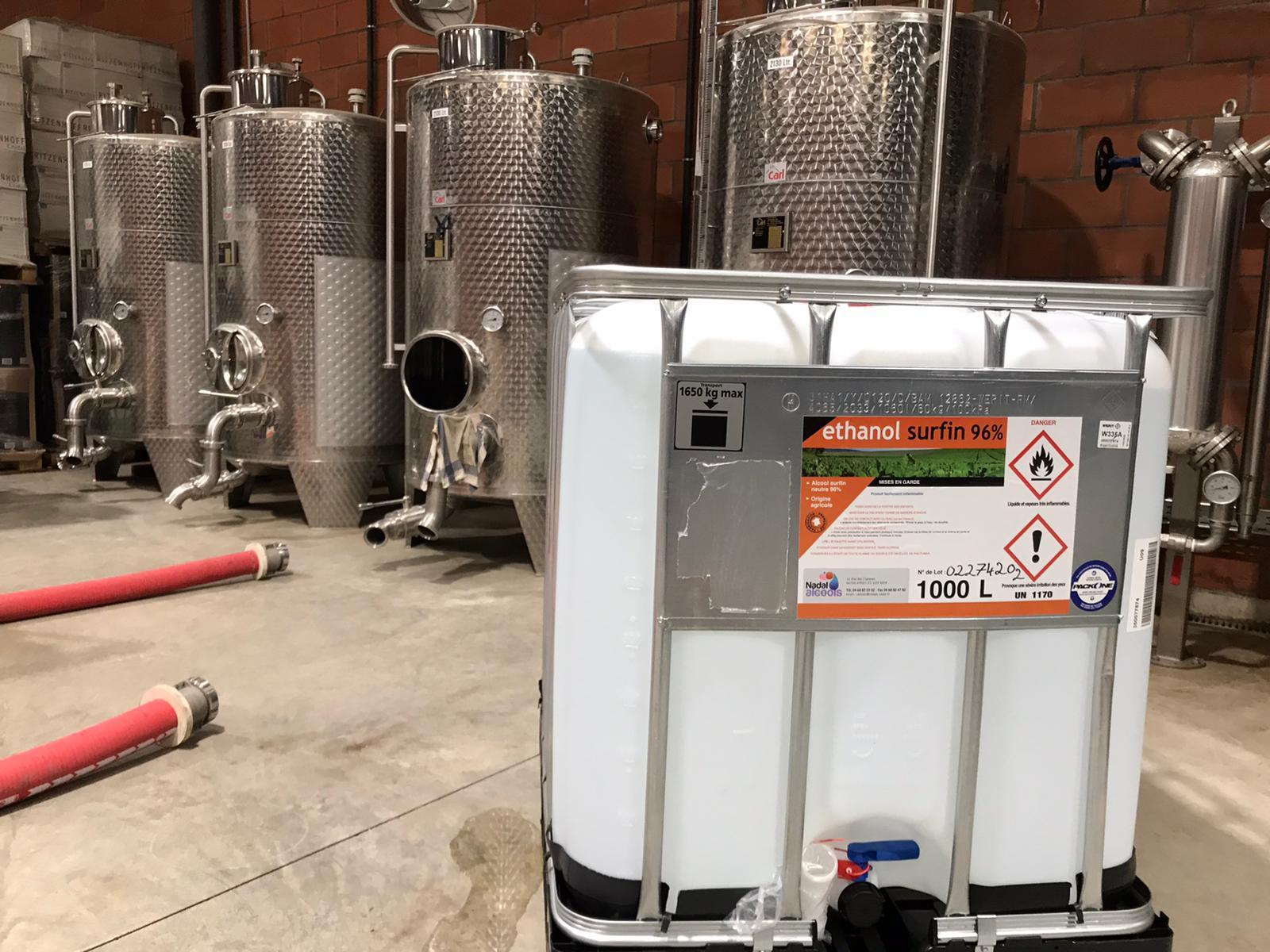 Ethanol surfin dans une distillerie