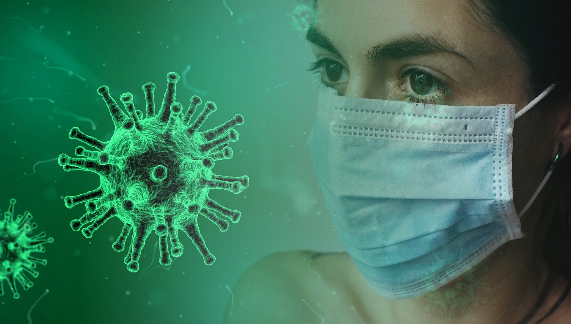 Coronavirus Covid-19 avec masque
