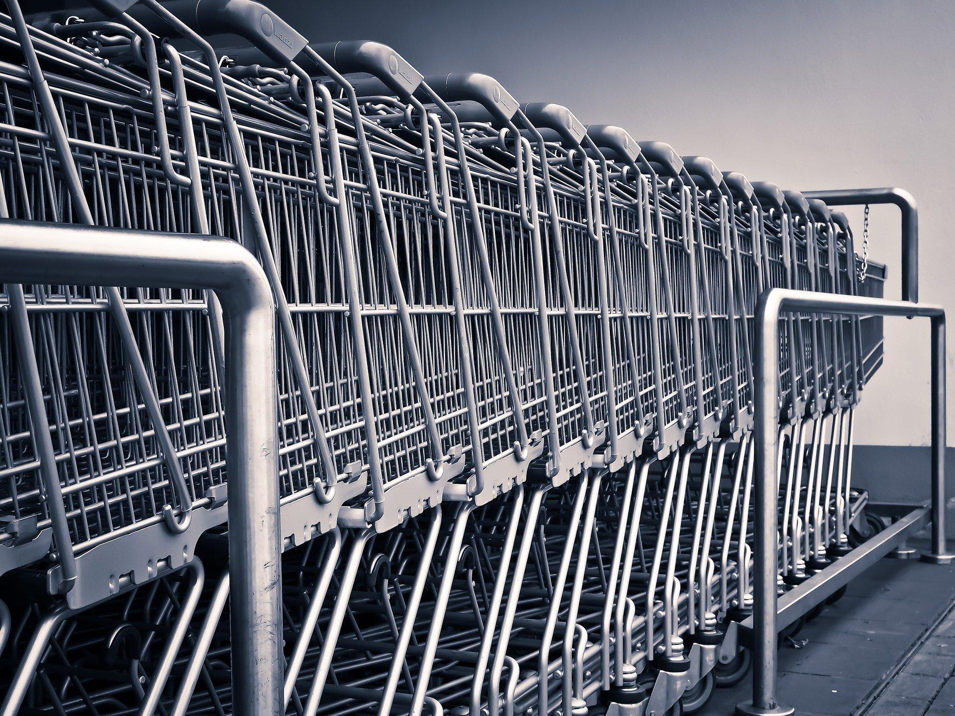 Chariots de supermarché