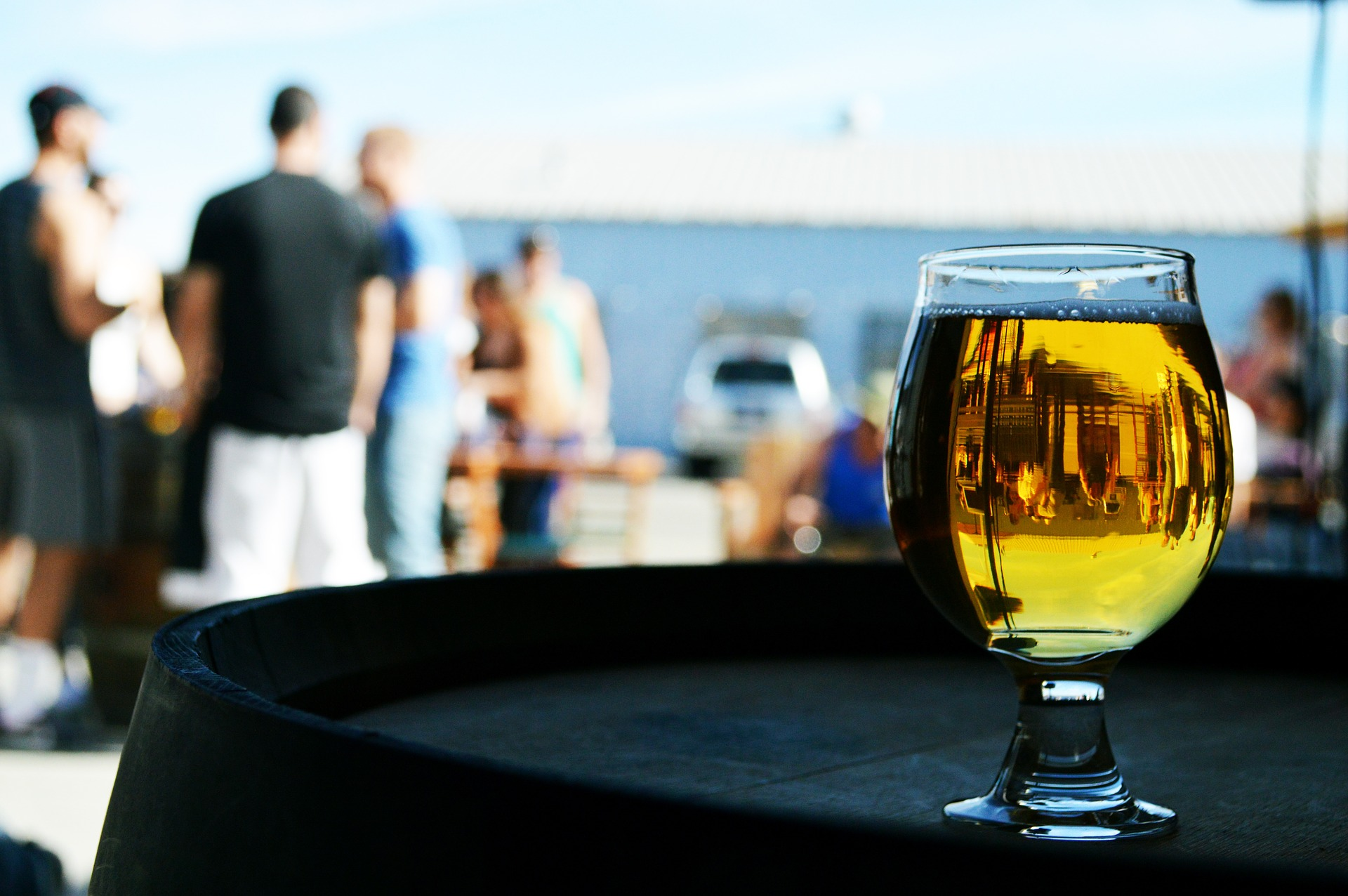 Bière sur la plage