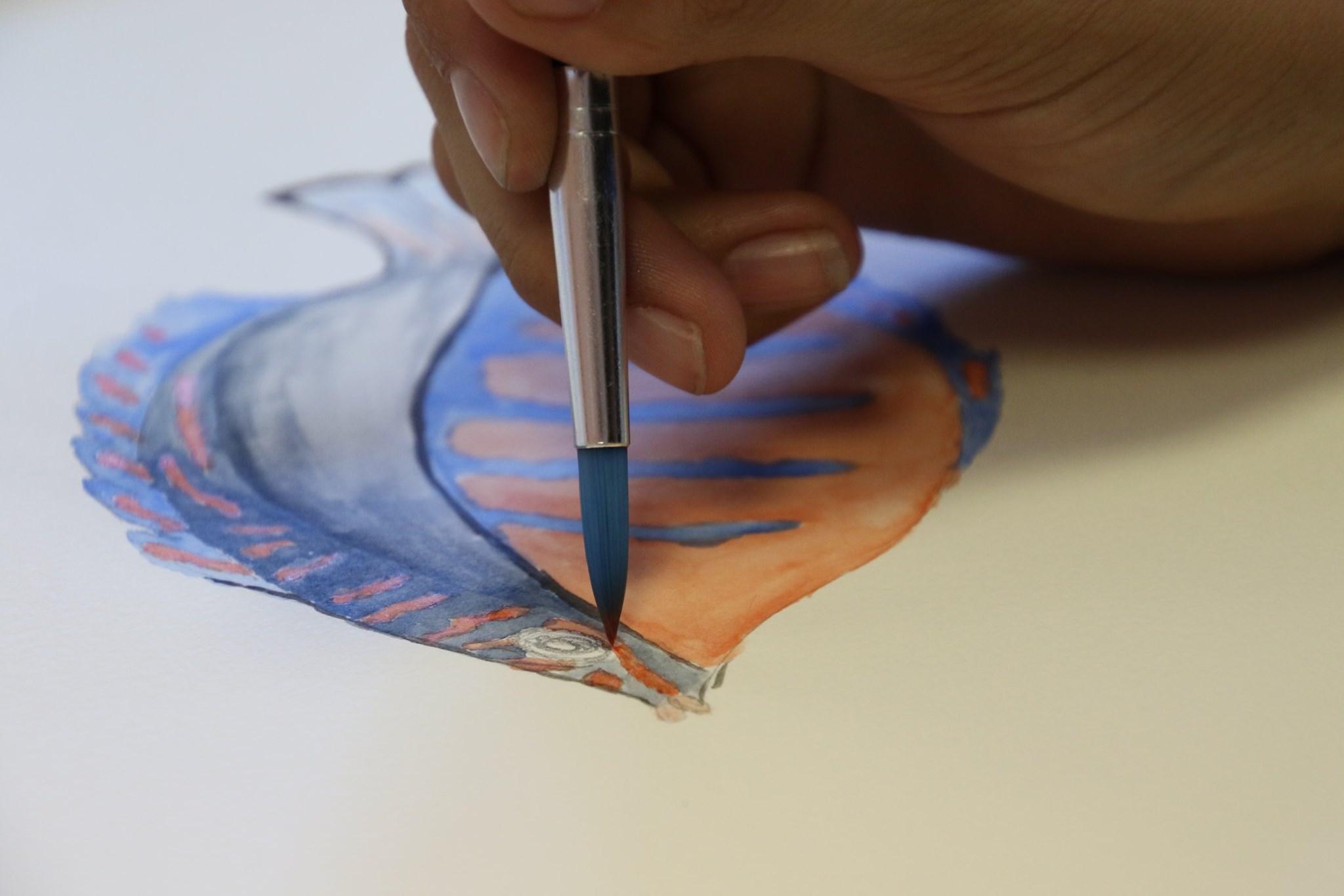 Peinture et étudiant en arts graphiques et design