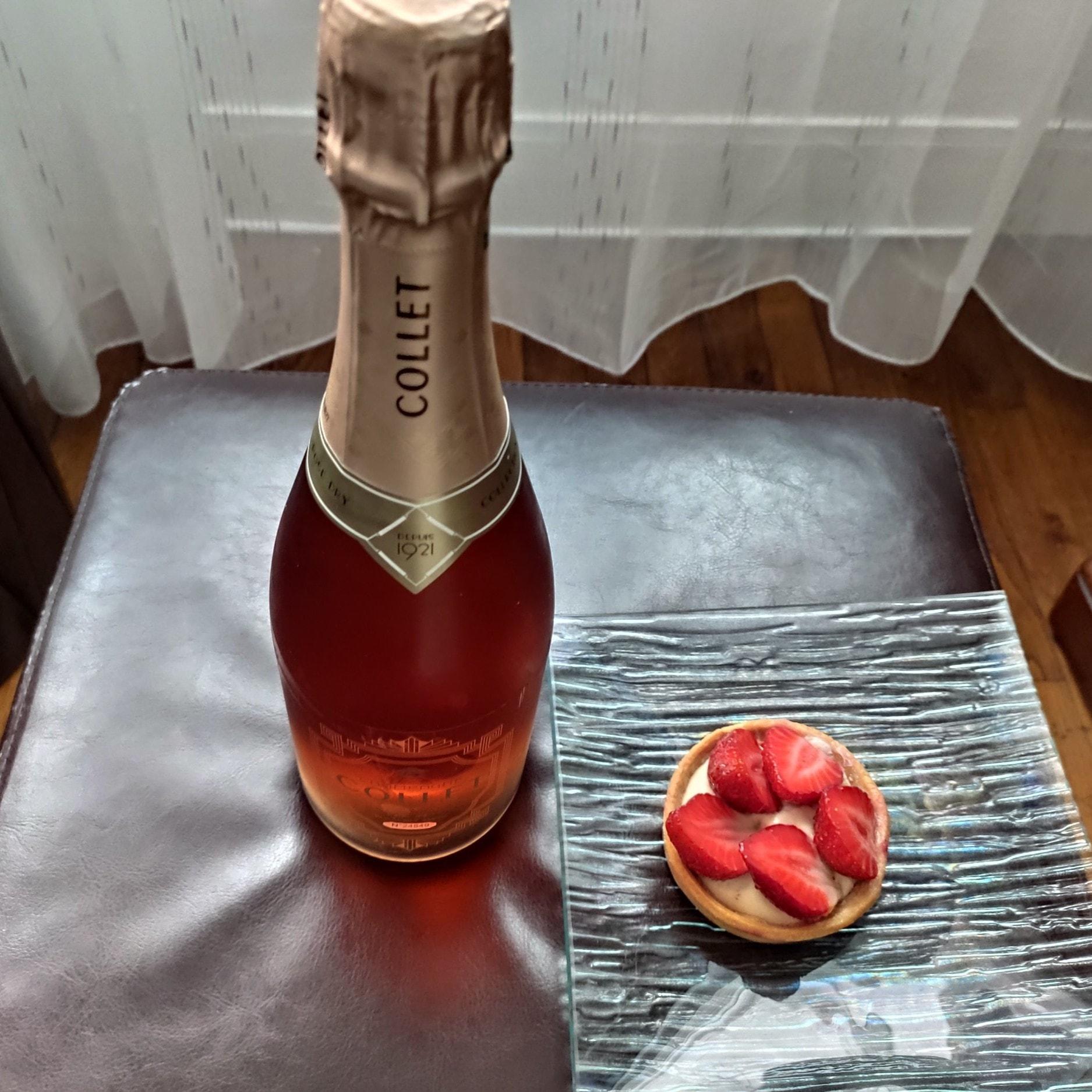 Champagne Collet - Tartelette aux fraises
