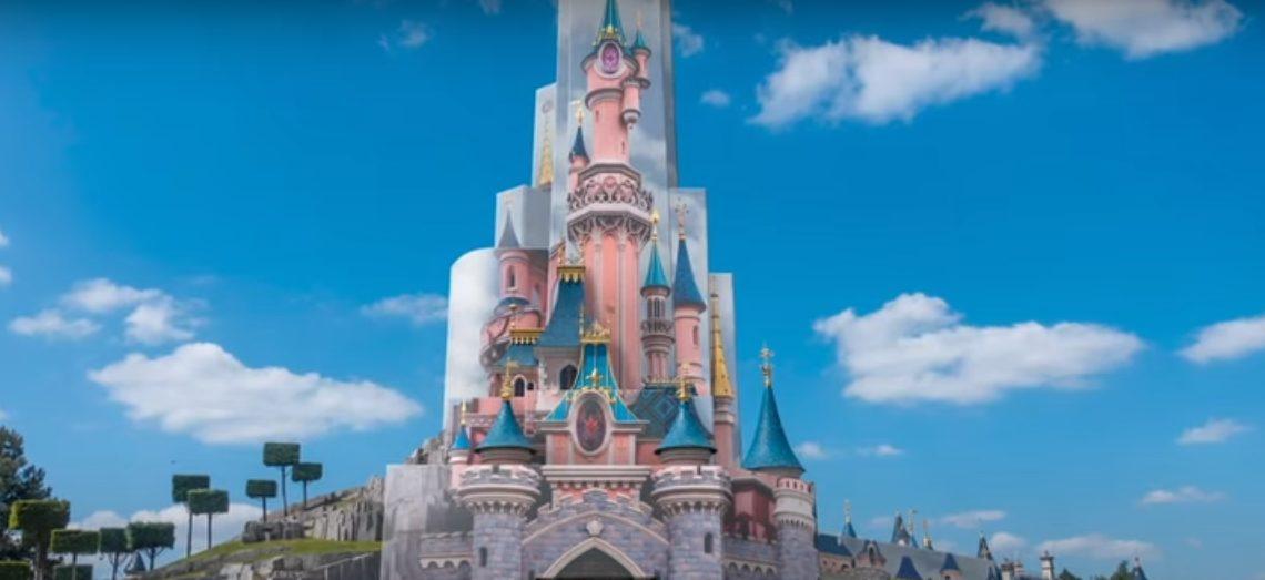 Disneyland Paris - Esquisse du Château en chantier - 2021