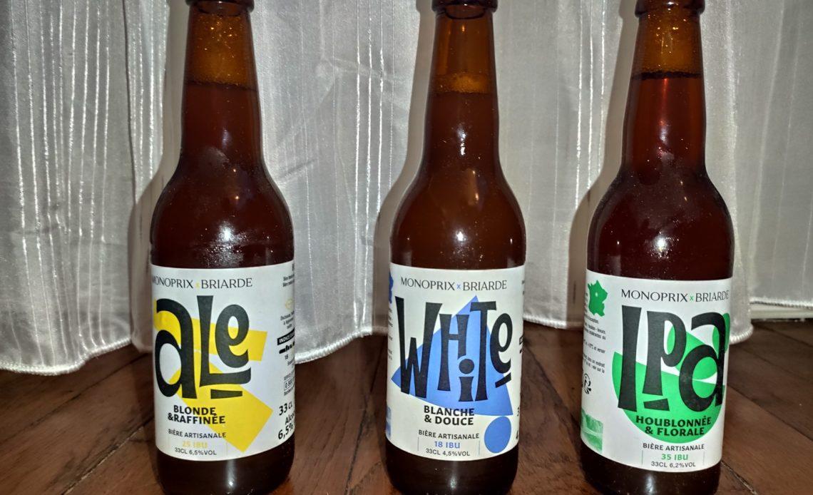 Ale - White - IPA - Bières Monoprix x Briarde