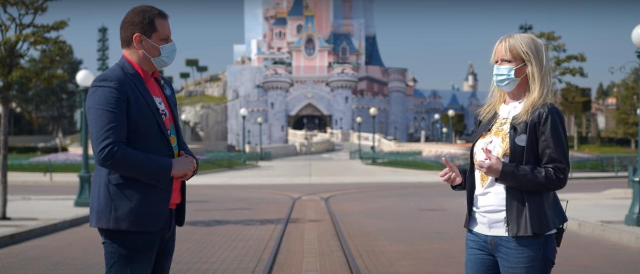 Giona Prevete et Natacha Rafalski - Château de la Belle au Bois dormant en travaux - Disneyland Paris (2021)
