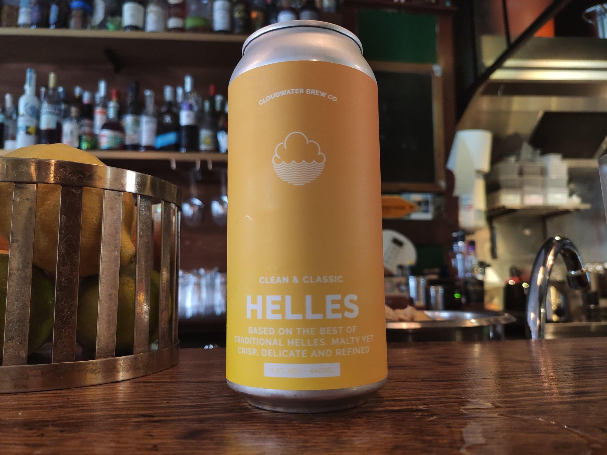 Craft beer Helles - Cloudwater