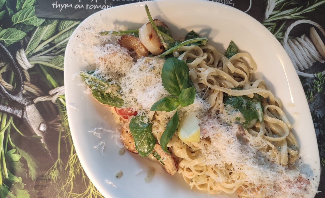 Scampi e spinaci - Vapiano - Pâtes linguine crevettes